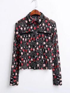 BB70 7005 мода ветер вышитые рубашки Джейкобс Перспектива 0211купить в магазине Yenisey HongKong StoreнаAliExpress