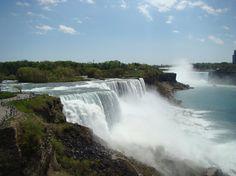 Niagara Falls, NY: American Falls A must see. New York Vacation, Family Vacation Destinations, Dream Vacations, Vacation Ideas, Family Vacations, Niagara Falls Hotels, Niagara Falls New York, Places To Travel, Places To See