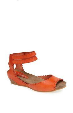 Miz Mooz 'Bridget' Leather Wedge Sandal available at #Nordstrom