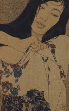 ●● Art of Ikenaga Yasunari ●● Art Painting, Japanese Art, Japanese Artists, Vintage Art, Japanese Illustration, Japanese Art Modern, Illustration Art, Art, Eastern Art