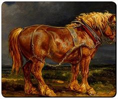 """Paintings Horses Artwork Customizable Gaming Mouse Pad Mat 240x200x3mm(9.45""""x7.87""""x0.12"""") by iCustom&Shop Mouse Pads http://www.amazon.com/dp/B017052O0G/ref=cm_sw_r_pi_dp_vaDkwb15B2Q2F"""