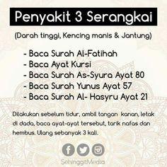 5 Tips Penawar Penyakit Dengan Surah-Surah Al Quran Prophets In Islam, Hijrah Islam, Doa Islam, Reminder Quotes, Self Reminder, Words Quotes, Life Quotes, Islamic Inspirational Quotes, Islamic Quotes