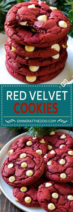 Red Velvet Cookies Recipe | Red Velvet Cookies with White Chocolate Chips | Red Velvet Cake Mix Cookies