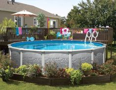Above Ground Pool Fence Ideas aboveground pool deck connected to house using wood fencing Great Landscaping For This Above Ground Pool