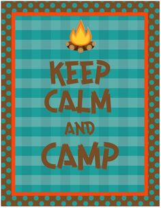 Back to school camping theme. Just when you thought summer was over!