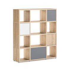 BOON Mix 3x4 P1 Regalsystem. Bücherregal Mit Flexibel Einsetzbaren Türen ...