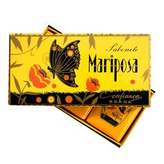 """Box of 3  - A Special Jewel… Beautiful box containing a """"Mariposa"""" soap bar."""