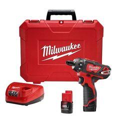 Milwaukee M12 12-Volt Lithium-Ion 1/4 In. Cordless Hex 2 Speed Screwdriver Kit – 2406-22  http://www.handtoolskit.com/milwaukee-m12-12-volt-lithium-ion-14-in-cordless-hex-2-speed-screwdriver-kit-2406-22/