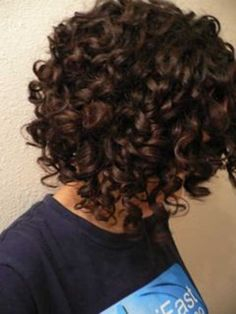 Curly Short Brown Bob