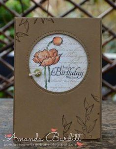 handmade birthday card ... kraft ... window with pierced border ...