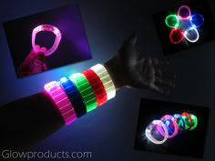 Glowing LED Bangle Bracelets. Available in 5 bright colors! https://glowproducts.com/us/led-bracelets-bangle