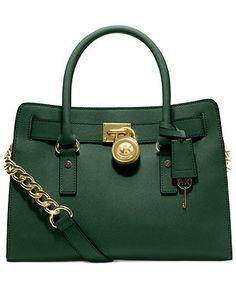 MICHAEL Michael Kors Handbag, Hamilton Saffiano Leather E/W Satchel - Michael Kors Handbags - Handbags & Accessories - Macy's