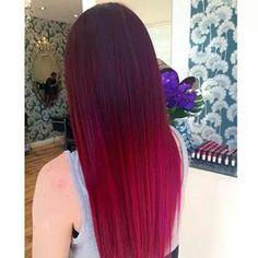 Red hair dark to light
