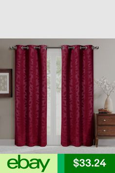 Are you going to put the burgundy curtain to your living room? Here we have 15 Impressive Burgundy Curtains For Living Room for your references. Insulated Curtains, Thermal Curtains, Grommet Curtains, Drapes Curtains, Curtain Panels, Valances, Blackout Curtains, Window Panels, Living Room Modern