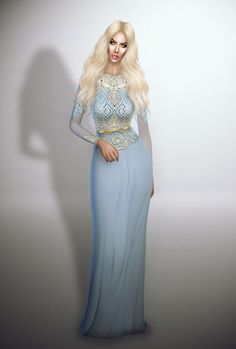Sims 4 CC's - The Best: Dress by Fashion Royalty Sims