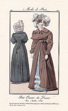 Petit Courrier des Dames 1823 Modes de Paris N°111