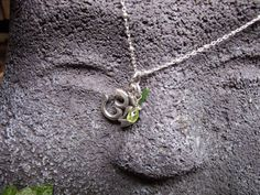 OM Symbol on Sterling Silver Chain with Peridot by LifeisBalance, $42.00