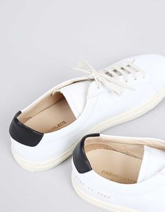 Common Projects Achilles Retro Low White/Black - Nitty Gritty Store
