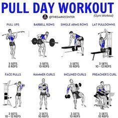 Push Pull Workout Routine, Push Pull Legs Workout, Arm Day Workout, Full Body Workout Plan, Push Workout, Workout Pics, Workout Routine For Men, Mommy Workout, Workout Plan For Women
