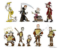 Discworld characters by Robert Sienicki