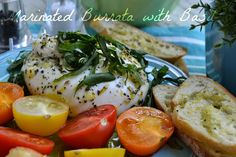 more than burnt toast: My Vote is for Marinated Burrata with Basil for Perfect Picnic Fare and Other Burrata Recipes