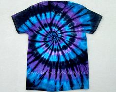 Child Size/ Tie Dye Shirt/ Moon Shadow Spiral by TieDyeBySandy