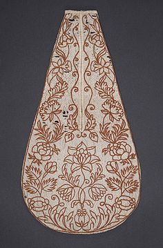 England  Woman's Pockets, mid-18th century  Costume/clothing accessory/waistwear, Silk, linen, 14 3/4 x 8 in. (37.47 x 20.32 cm)  Gift of Dr. Alessandro Morandotti (M.59.21.1a-b)  Costume and Textiles Department.