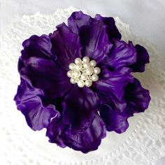 Custom Order Wedding Edible Purple Peony Flower Cake Topper by SweetIdeaFlowers on Etsy