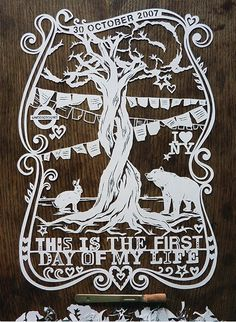 There are so many reasons why I love this. For one it's a papercut which is a love of mine. For two it's amazing. For three the quote the bottom is the song I want to dance to as my first dance when I get married. I must make something like this.