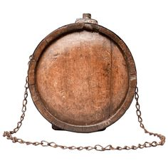 19th Century Civil War Conferderate American Wood Water Canteen 1