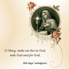 O Mary, make me live in God, with God and for God. #DaugtersofMaryPress #DaughtersofMary #BlessedMother