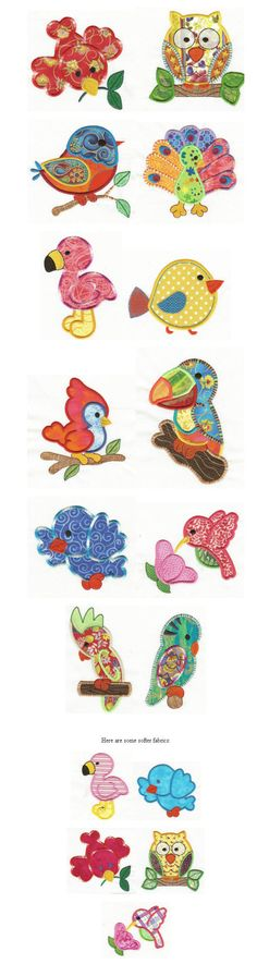 Embroidery | Free machine embroidery designs | Birds of a Feather Applique by juju