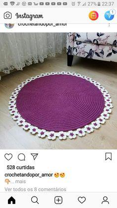 Crochet Rugs, Crochet Dishcloths, Crochet Patterns, Doormat, Crochet Projects, Crocheting, Stitches, Kids Rugs, Drawings
