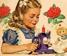 Vintage Sewing - I sewed my little heart out on my Mums sewing machine making clothes for my dollies & then for me