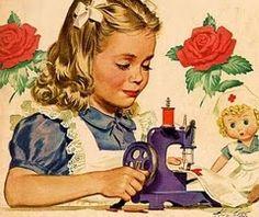 J'avais une petite machine à coudre lorsque j'étais petite