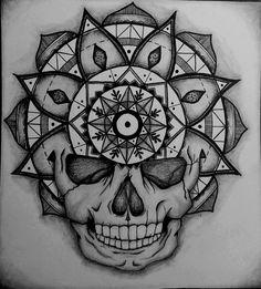 Mandala, skull by natatim on DeviantArt
