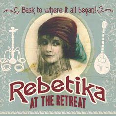 Rebetika at the Retreat Greek Plays, Bistro Design, Greek Fashion, Greek Music, Concerts, Art Reference, Restaurant, Traditional, Movie Posters