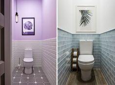 Дизайн туалета маленького размера - фото без раковины