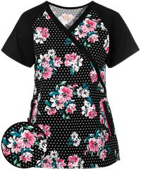 Looking for comfortable women's scrub tops you can afford? You can find all the latest and greatest ladies scrub tops at Uniform Advantage! Cute Scrubs Uniform, Faith Boots, Scrub Tops, Black Trim, Fashion Photo, Work Wear, Pretty, Caregiver, How To Wear