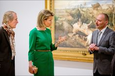 """Queen Matilde visited the exhibition """"Sensation and sensuality Rubens"""" at the Palais des Beaux-Arts in Brussels."""