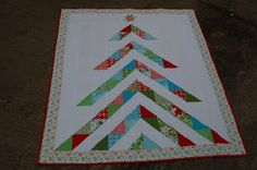 Moda Bake Shop: Oh, Christmas Tree Quilt--I'm imagining this with some Kate Spain Joy or some Basic Grey Fruitcake....