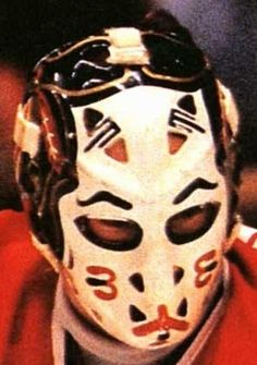 """This is vintage here. He was the back up to Tony Esposito early in his career & was replaced by another legend to be. That being Ed """"Eddie The Eagle"""" Belfour. Ice Hockey Teams, Blackhawks Hockey, Hockey Goalie, Chicago Blackhawks, Hockey Players, Nhl, Hockey Highlights, Eddie The Eagle, Goalie Mask"""