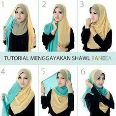 L… – Hijab Fashion 2020 Square Hijab Tutorial, Simple Hijab Tutorial, Hijab Style Tutorial, Modern Hijab Fashion, Hijab Fashion Inspiration, Muslim Fashion, Scarf Wearing Styles, Scarf Styles, Bandanas