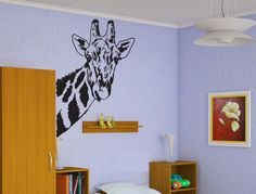 Giraffe Head Sticker Wall Vinyl African Animal Mural Nursery Decor Gift  #072 #HomeOfStickers