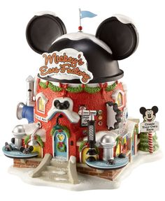 Closeout! Department 56 North Pole Village Mickey's Ears Factory Collectible Figurine