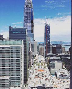 181 Fremont, Salesforce Tower, Transbay Park 8.2017