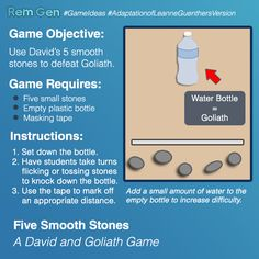 A David And Goliath Game That Only Takes Few Simple Materials