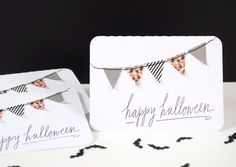 Quick and Easy Happy Halloween card design, really cute.