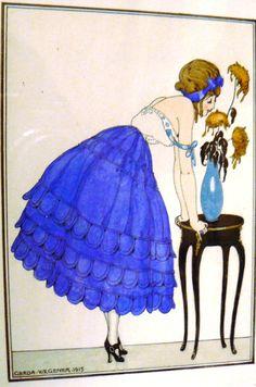 Gerda Wegener - Au jupe bleu 1915  https://leonardfoxltd.wordpress.com/2011/11/01/woman-in-a-blue-skirt-1915-gerda-wegener/