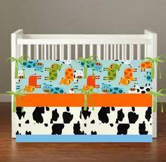 Cow Crib Bedding  Cow Print Nursery Decor 3 Piece by flashybaby